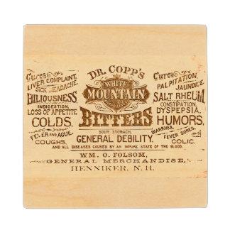 Vintage Label Wood Coaster