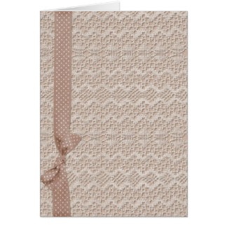 Vintage Lace and Bow Card
