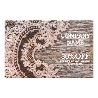 vintage lace barn wood western country fashion 14 cm x 21.5 cm flyer
