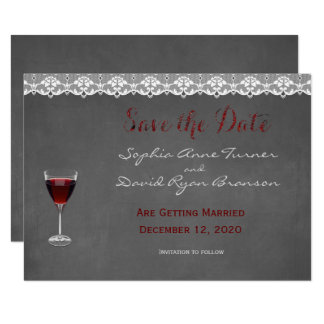 Vintage Lace Winery Wedding SAVE THE DATE 11 Cm X 16 Cm Invitation Card