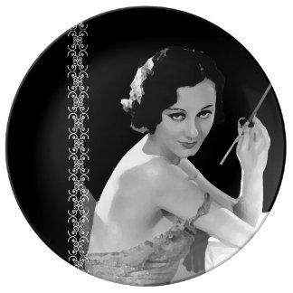 """Vintage Ladies """"Darling"""" Serving Plate"""