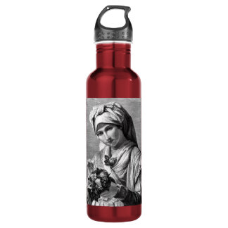Vintage Lady with Flowers Liberty 710 Ml Water Bottle