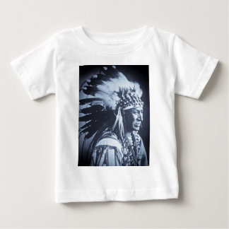 Vintage Lakota Sioux White Swan Chief Baby T-Shirt