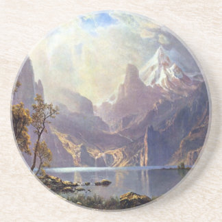 Vintage Landscape, Lake Tahoe by Albert Bierstadt Coaster