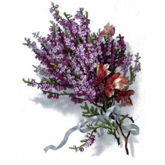 Vintage Lavender Bouquet Standing Photo Sculpture