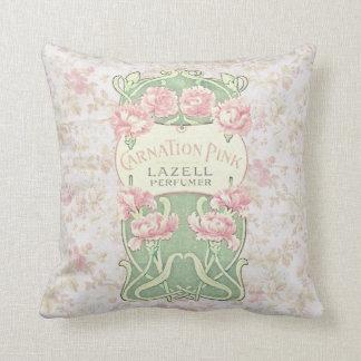 Vintage Lazell Perfume Label Pillow