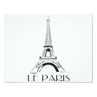 vintage le paris 11 cm x 14 cm invitation card