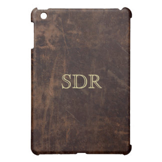 Vintage Leather-Look Monogrammed Cover For The iPad Mini
