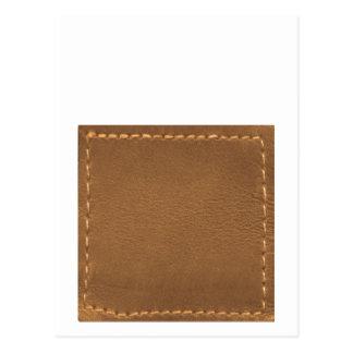 Vintage Leather Look - Write on ImageBox TextBox Postcard