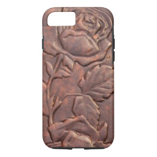 Vintage leather rose look iPhone 7 case