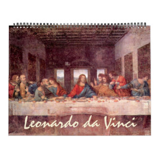 Vintage Leonardo da Vinci Renaissance Paintings Calendars