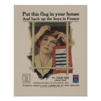 Vintage Liberty Bond Military Mother WW2 Retro Poster