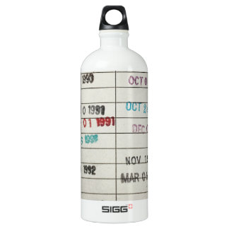 Vintage Library Due Date Cards SIGG Traveller 1.0L Water Bottle