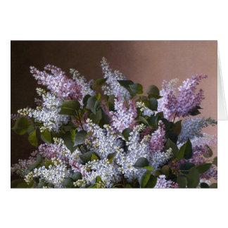 Vintage Lilacs Note Card