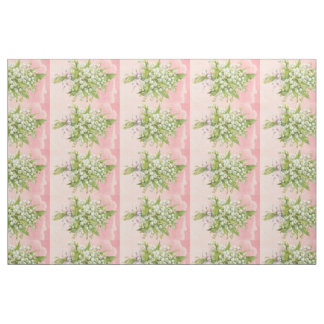 Vintage Lilly of The Valley Fabric