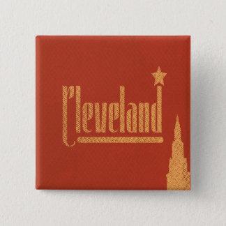 Vintage Lines Cleveland Ohio Button