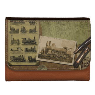 Vintage Locomotive Leather Wallet - Version 1