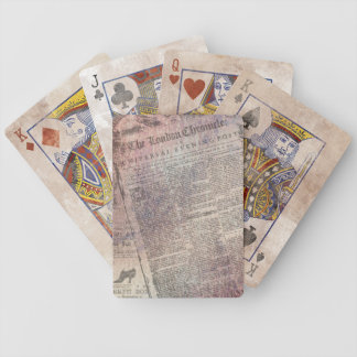 Vintage London Chronicle Newspaper Ads Bicycle Playing Cards