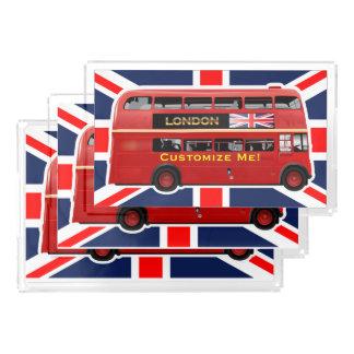 Vintage London Double Decker Bus Acrylic Tray