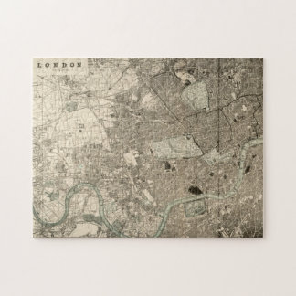 Vintage London Map Puzzle