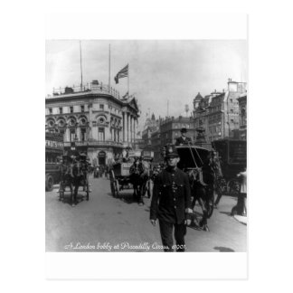 Vintage London Piccadilly Circus street scene 1901 Postcard