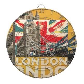 Vintage London Poster Dartboard