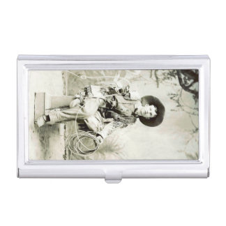 Vintage Lone Cowboy and his Lasso American West Business Card Case
