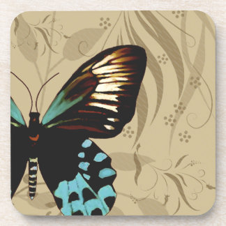 Vintage Look Butterfly Coaster