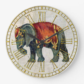 Vintage Look Circus Elephant Wall Clocks