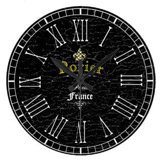 Vintage Look Fleur-De-Lis Personalize Clocks