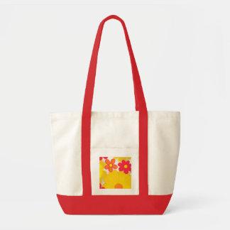 Vintage Look Floral Tote Impulse Tote Bag