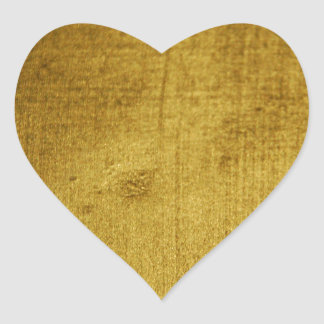 Vintage-Look gold used Heart Sticker