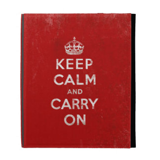 Vintage-Look Keep Calm and Carry On iPad Case