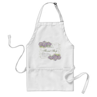 Vintage Look Lilac Hydrangea -  Business Aprons