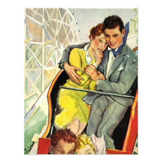 Vintage Love and Romance Roller Coaster Ride Announcements