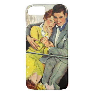 Vintage Love and Romance, Roller Coaster Ride iPhone 7 Case