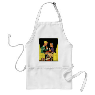 Vintage Love and Romance, Teens at the Soda Shop Standard Apron