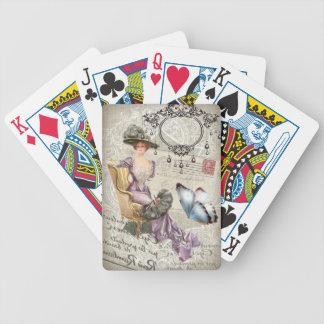 vintage love letter Vintage Paris Lady Fashion Card Decks