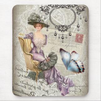 vintage love letter Vintage Paris Lady Fashion Mouse Pad