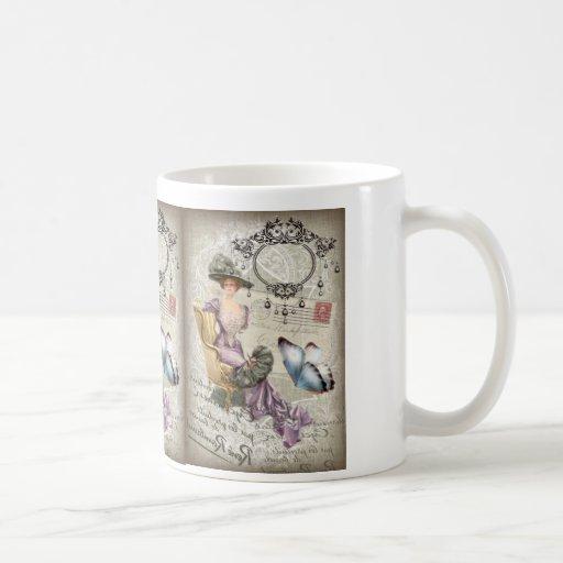 vintage love letter Vintage Paris Lady Fashion Mug