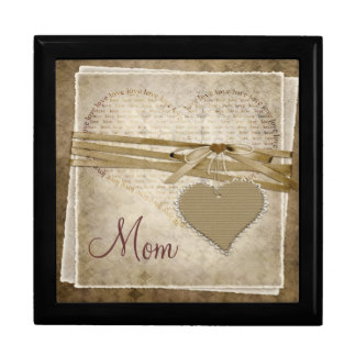 Vintage Love Paper & Heart Mothers Day Jewelry Box