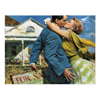 Vintage Love Romance Romantic Save the Date Postcard