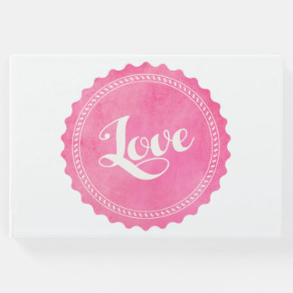 Vintage love typography guest book