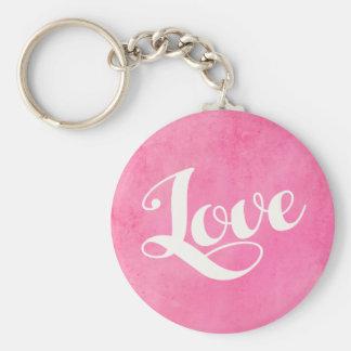 Vintage love typography key ring