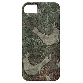 Vintage LoveBirds Embossed Print Case iPhone 5