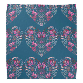 Vintage luxury design. Heart stylish pattern Bandanas