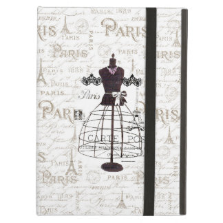 Vintage mannequin French typo Paris Eiffel Tower iPad Air Case