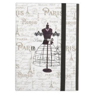 Vintage mannequin French typo Paris Eiffel Tower iPad Air Case