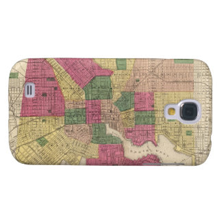 Vintage Map of Baltimore (1873) Galaxy S4 Case