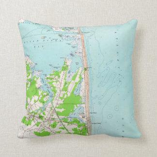 Vintage Map of Bethany Beach Delaware (1954) Cushion